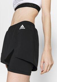 adidas Performance - Pantalón corto de deporte - black/white - 3