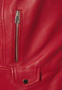 Pinko - SENSIBILE CHIODO - Leather jacket - red - 2