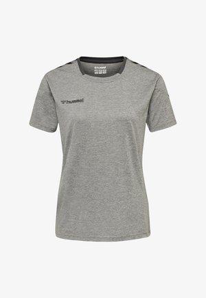 HMLAUTHENTIC  - T-shirt print - grey melange