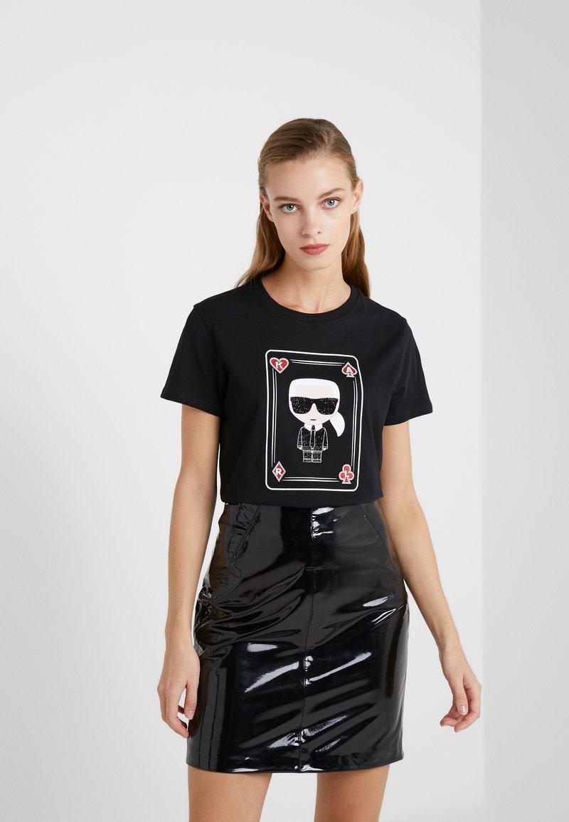 KARL LAGERFELD - CHOUPETTE - T-shirts med print - black