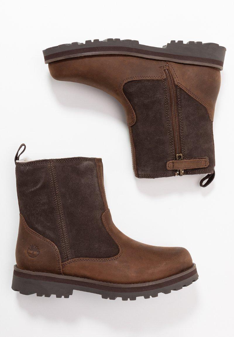 Timberland - COURMA KID WARM LINED BOOT - Korte laarzen - dark brown