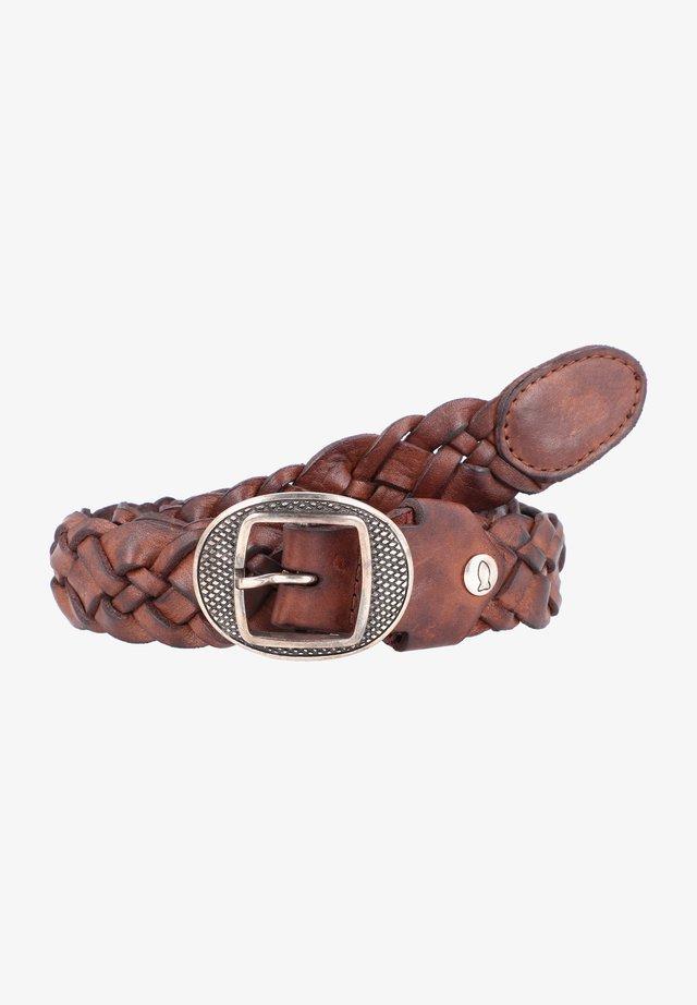 Braided belt - brown