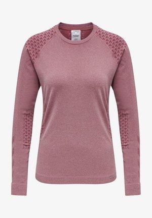 SEAMLESS T-SHIRT L/S - Langærmede T-shirts - nocturne melange