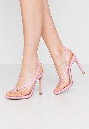 BASHMENT - Sandały na obcasie - pink