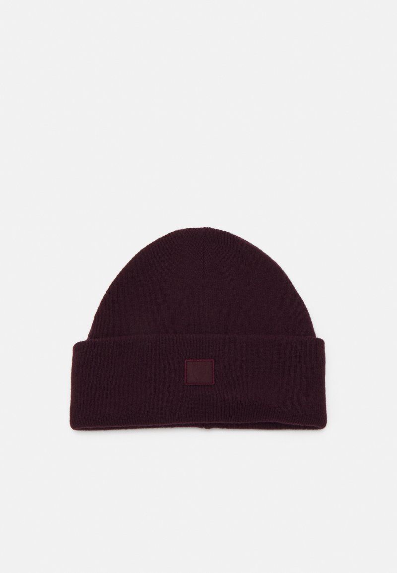 Knowledge Cotton Apparel - LEAF BEANIE UNISEX - Čepice - bordaux