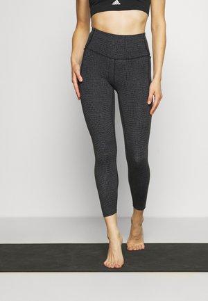 MERIDIAN - Legging - black/silver-coloured