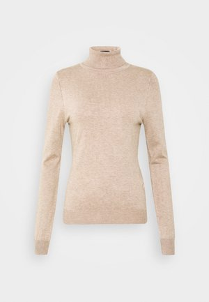 BASIC- TURTLE NECK JUMPER - Jumper - sand