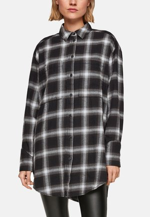 Button-down blouse - offwhite check