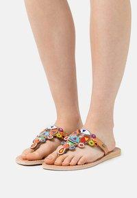 laidbacklondon - SIMBA FLAT - T-bar sandals - tribal - 0