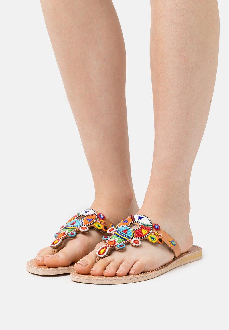 laidbacklondon - SIMBA FLAT - T-bar sandals - tribal