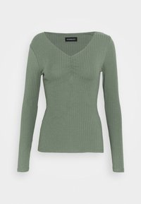 Even&Odd - Topper langermet - green - 4