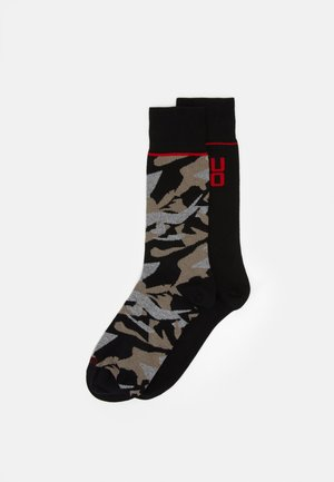 CAMO ALLOVER 2 PACK - Calze - black