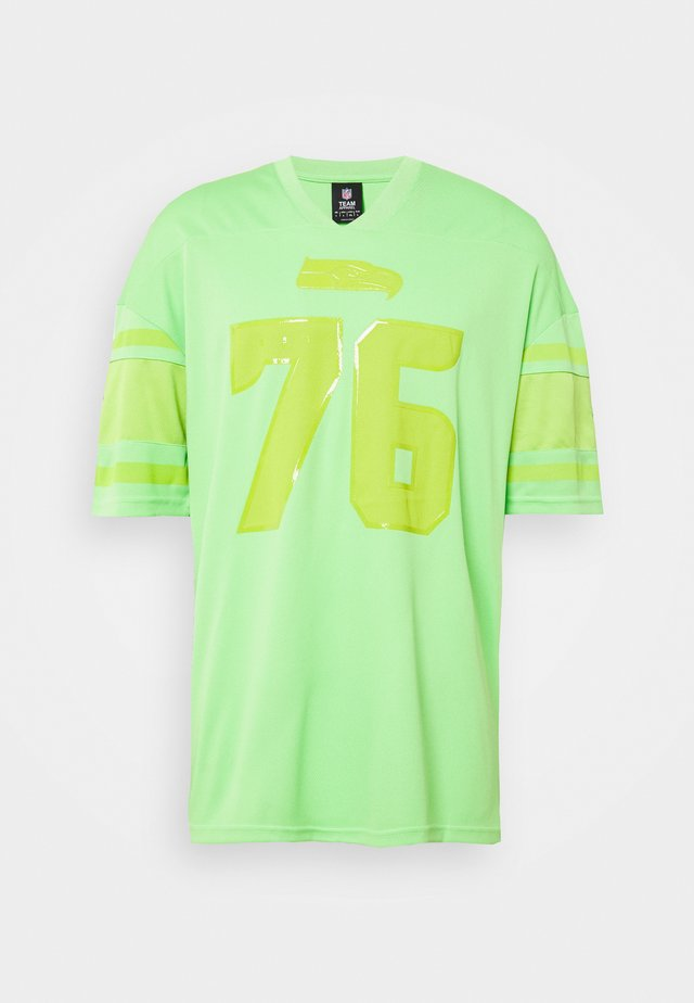 NFL SEATTLE SEAHAWKS FRANCHISE SUPPORTERS - T-shirt con stampa - lime