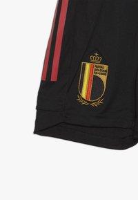 adidas Performance - BELGIUM RBFA TRAINING SHORTS - Sportovní kraťasy - black - 3