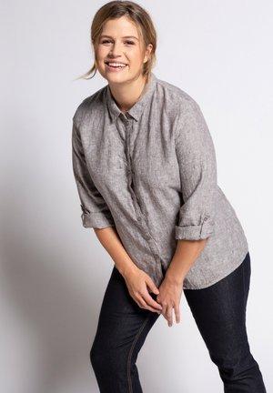 Button-down blouse - grau-melange
