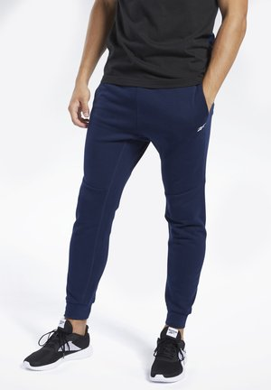 TRAINING ESSENTIALS LINEAR LOGO JOGGERS - Träningsbyxor - blue