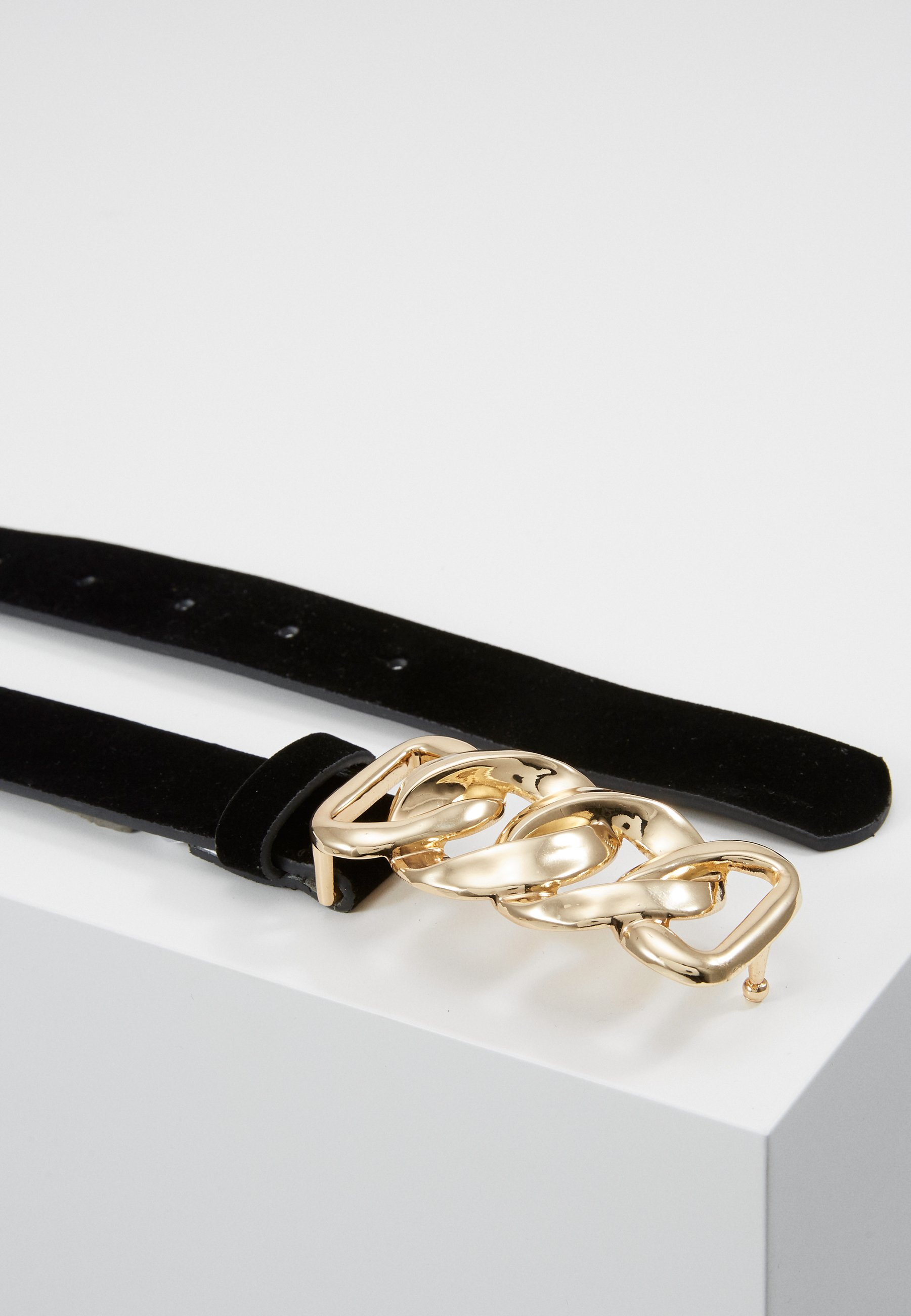 Pieces PCCHAIN WAIST BELT - Midjebelte - black/gold-coloured/svart lldRWXj460ixvDa