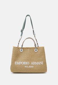 Emporio Armani - CAPSULE MYEABORSA SHOPPING - Handbag - natural/white - 1