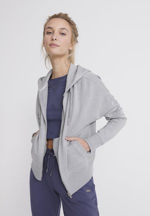 SUPERDRY STUDIO ZIP HOODIE - Sweatjacke - grey marl