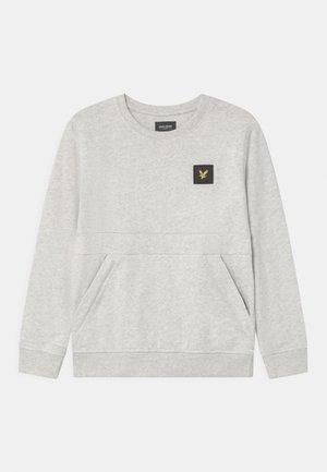 ZIP POCKET - Sweatshirt - mottled light grey