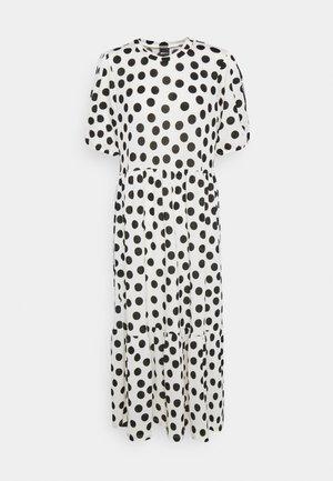AMITA DRESS - Maxi dress - offwhite/black