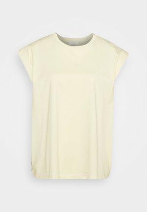 PORTER - Basic T-shirt - soft lemon