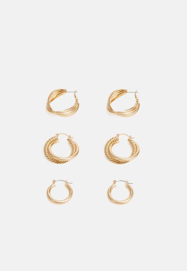 PCKAMILLA EARRINGS 3 PACK - Kolczyki - gold-coloured