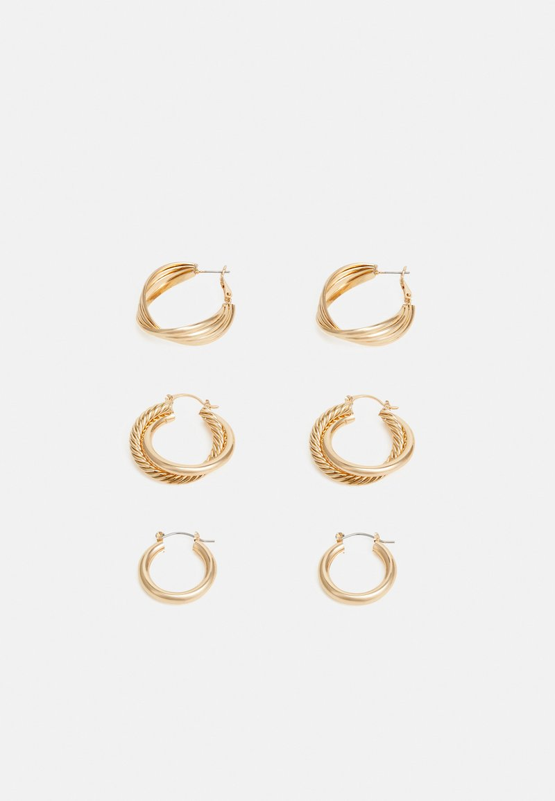 Pieces - PCKAMILLA EARRINGS 3 PACK - Earrings - gold-coloured