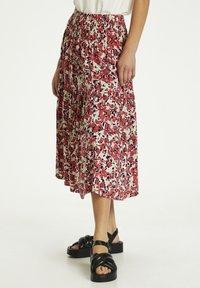 Soaked in Luxury - SLINDIANA  - Pleated skirt - multifloral cardinal - 0