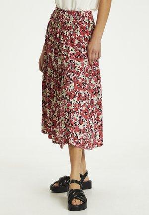 SLINDIANA  - Pleated skirt - multifloral cardinal