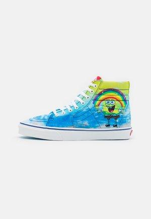UA SK8-HI UNISEX - Sneakers alte - blue/multicolor/white