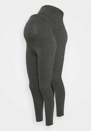 2 PACK - Leggings - black/grey