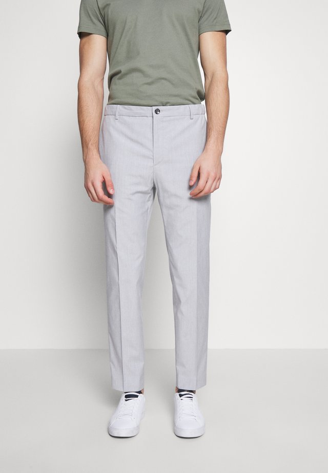 SUMMER CHAMBRAY PANTS - Spodnie garniturowe - grey