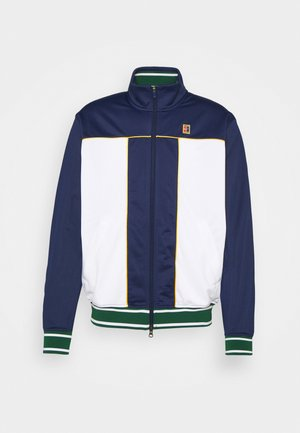 HERITAGE - Fleece jacket - binary blue/white/university gold