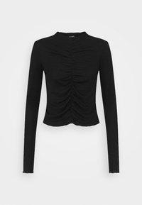 Monki - RUCHIE - Long sleeved top - black - 4