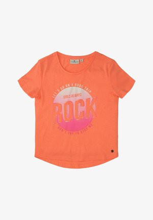 MIT PRINT - Print T-shirt - kids power orange