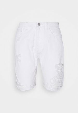 RIPPED  - Kratke hlače od trapera - white
