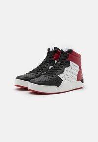 Armani Exchange - Sneakers hoog - white/black/red - 1