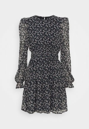 VMHIBISCUS SHORT DRESS - Day dress - navy blazer/liberty