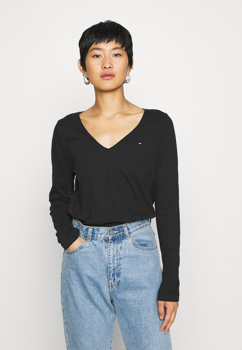 Tommy Hilfiger - CLASSIC - Long sleeved top - black