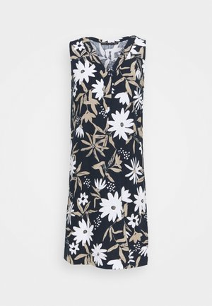 FLORAL SHIFT - Day dress - dark blue