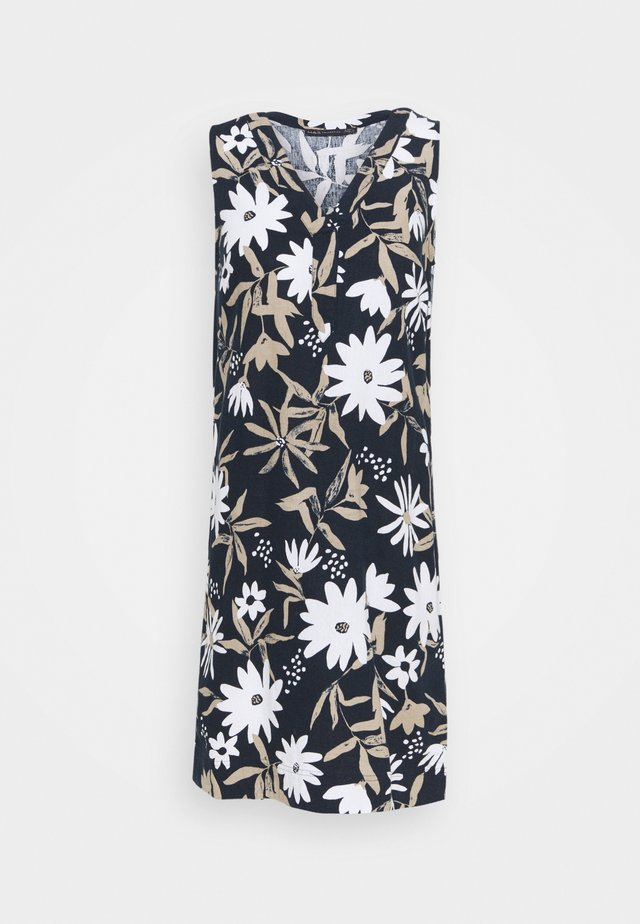 FLORAL SHIFT - Korte jurk - dark blue