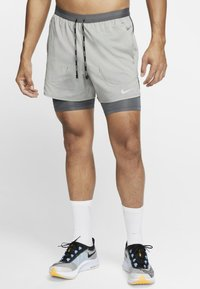 Nike Performance - Short de sport - iron grey/iron grey/heather - 0