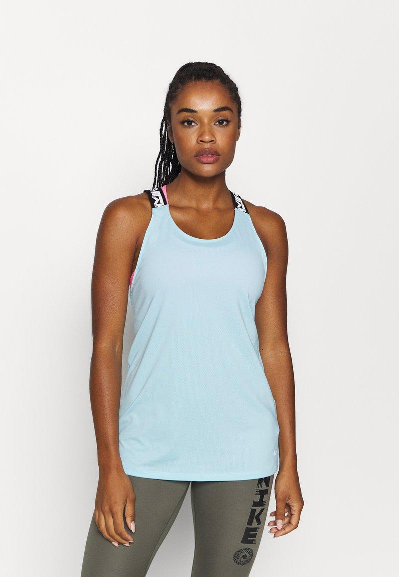 Nike Performance - ELASTKIA - Sports shirt - glacier ice/white