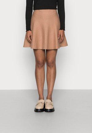 ONLNEW DALLAS SKIRT - Mini skirt - burro melange