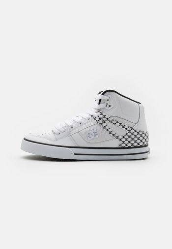 PURE - Höga sneakers - white/black