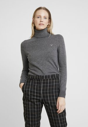 EXTRAFINE ROLLNECK - Jumper - charcoal