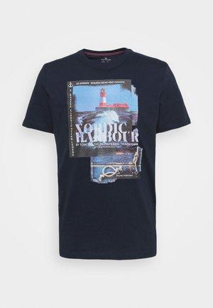 HARBOUR - Print T-shirt - dark blue