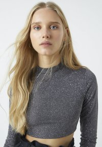 PULL&BEAR - Long sleeved top - mottled dark grey - 3