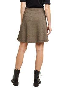 Esprit - FLARED  - A-line skirt - camel - 5